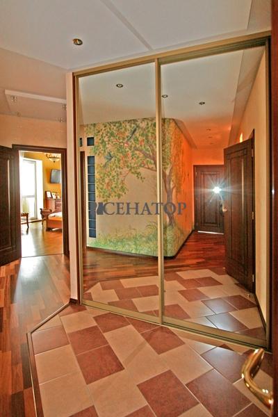 Шкаф-купе с зеркальными дверями в прихожей