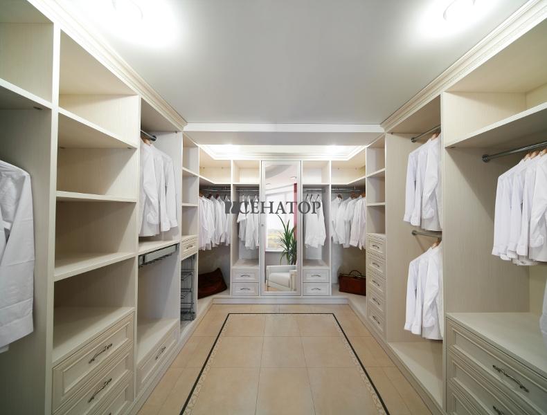 стиль прованс в гардеробной комнате