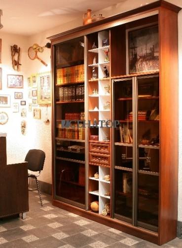 """Книжные шкафы фото фотографии книжных шкафов- ооо """"тд""""сенат."""