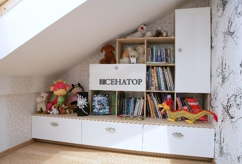 Детская  мебельная горка в мансарду