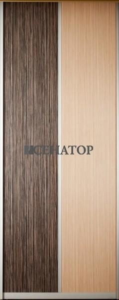 Дверь-купе экспозиционная с вертикальным делителем