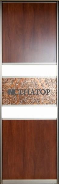 Дверь-купе, комбинация ДСП стекла и искусственной кожи