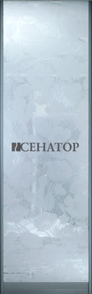 Дверь-купе , наполнение декоративное стекло