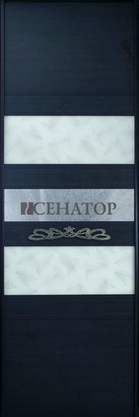 Дверь-купе с горизонтальным делением и с ручкой для открывания