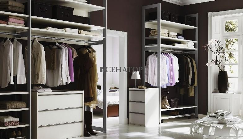 гардероб на вертикальных опорах «раумплюс»