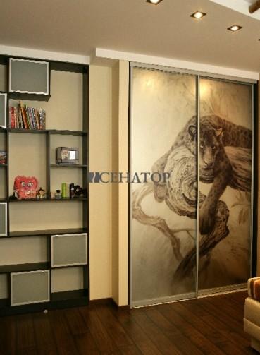 Дизайнерский шкаф с принтом