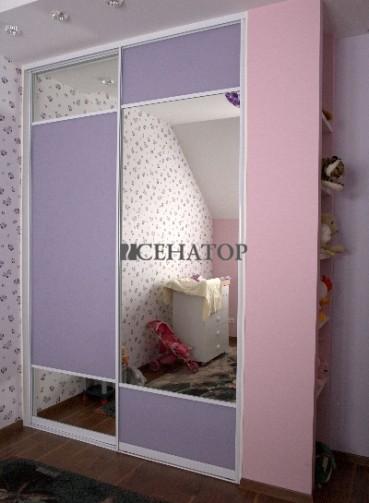 Шкаф-купе в детскую комнату для девочек