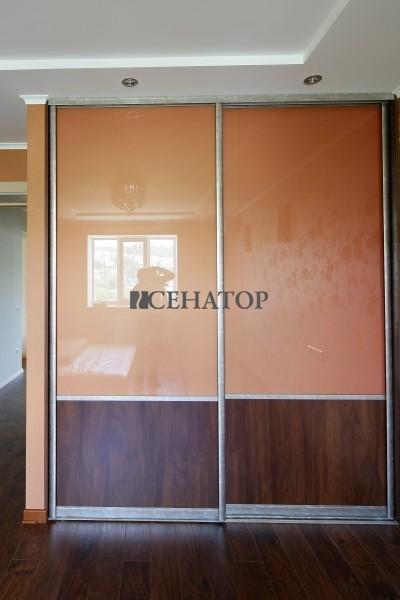 шкаф-купе со стеклом «lacobel»
