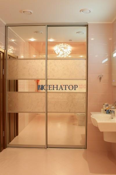 шкаф-купе в ванную зеркальный